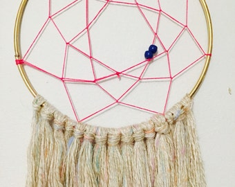 Pink & Cream Dream Catcher - Perfect for college dorm room or apartment!