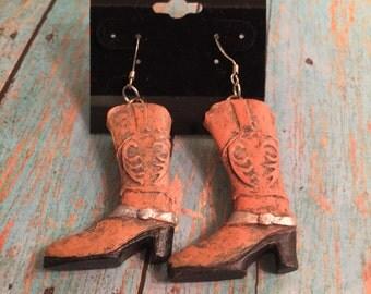 Western Boot Earrings