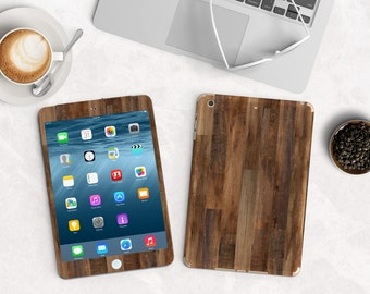 Dark Varnished Wood Vinyl Skin for the iPad Air 2, iPad mini , Kindle All Models , Surface Pro and RT