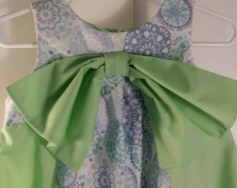 Pastels on white w/ mint green dress 3T