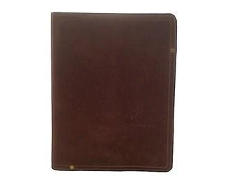 Large Leather Portfolio - Chocolate