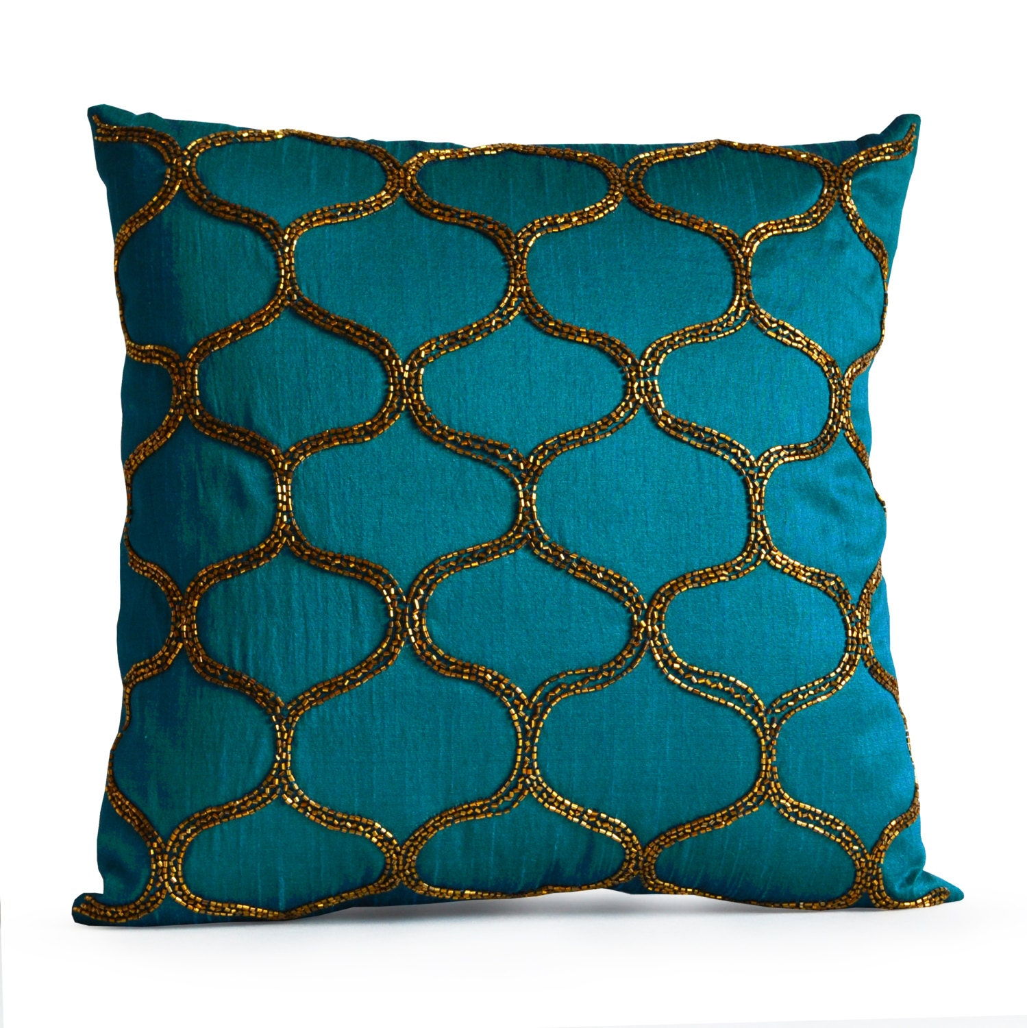 Modern Teal Decorative Throw Pillow : Designer Pillow Decorative Teal Pillow Cover Turquoise