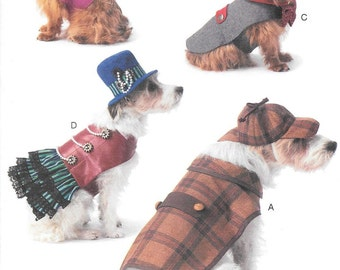 McCalls 7004 Pet Costumes Sewing Pattern Size Sm, Med, Lg, and Xlg