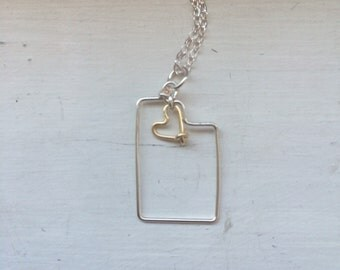 Utah necklace, state necklaces, state outline