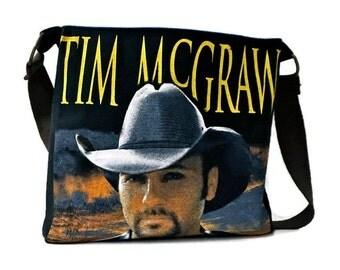 Tim McGraw Bag • Upcycled Band Tee • TShirt Purse • 2010 Concert Tshirt Crossbody Bag