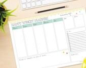 Happy Weekly Planner - DIY Desk Planner - Printable Weekly Planner / Calendar