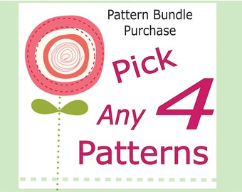 Sewing pattern Bundle Deal, babies, boys and girls pdf patterns. Choose any 4 children's pdf sewing patterns and tutorials.