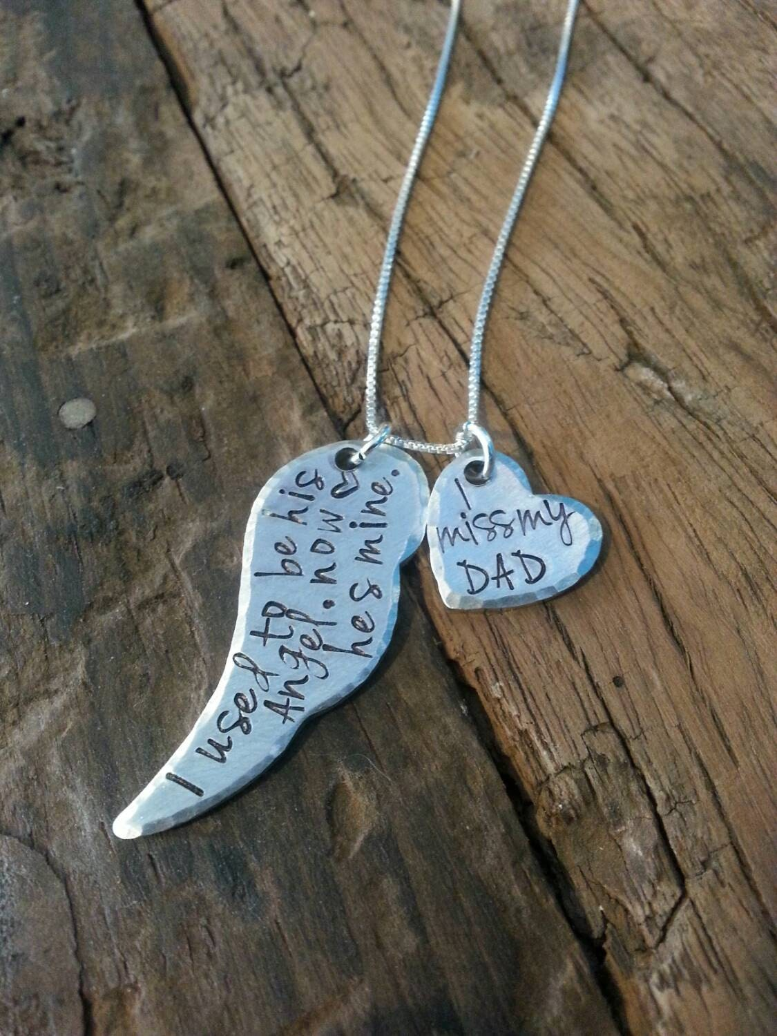 Daddy memorial necklace father loss loss of a loved one