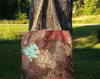 Vintage inspired handmade hand bag