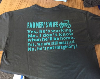 Farmer's Wife Shirt with tractor