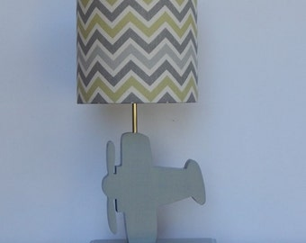 Airplane Desk or Table Lamp Base - Great Nursery, Boys or Girls Lamp Base