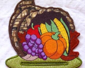 November Magnetic Embroidered Notepad Holder