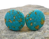Tiny Blue Mosaic Cabinet Knobs or Drawer Pulls - stone knobs, stone knobs, kitchen, bathroom, South West