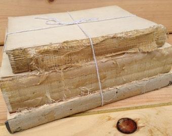 Bare Book Bundle, Vintage Upcycled Home Decor, Shabby Chic, Wedding Decor, Photo Prop (036.2)