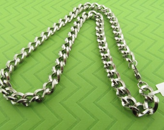 clearance price. heavy stainless steel chain necklace. 24 inches long. 10 millimeter wide