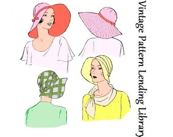 1920s Ladies Brimmed Cloche Hat - Reproduction Sewing Pattern #H5651