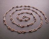 Copper anniversary, 7th anniversary gift, long copper chain necklace, handmade copper chain, copper gift, 7th anniversary, copper jewelry