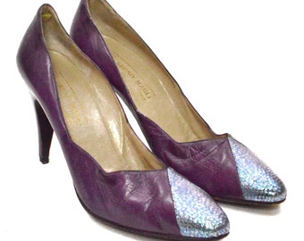 Vintage 80s Bruno Magli Made in Italy High Heels Pumps Shoes