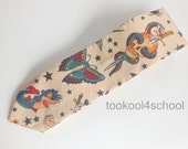 Adult beige tatoo inspired fabric tie