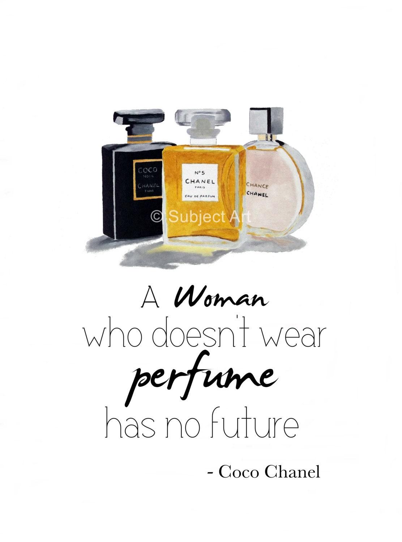 ART PRINT Of Chanel No.5 Noir Chance Perfume Coco Chanel