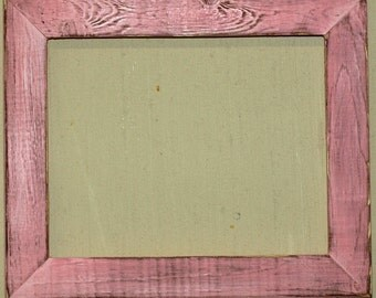 "1-1/2"" Baby Pink Distressed Picture Frame"