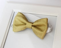 Gold Bow-tie - Yellow gold bow tie - Wedding bow tie - Men's bow tie - Kids bow tie - Baby bow tie