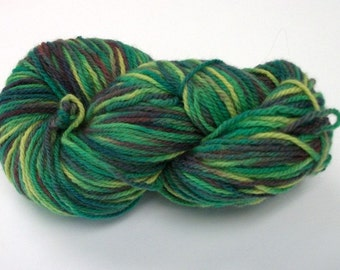 Hand dyed wool yarn worsted weight  180 yds.