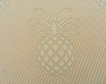 CLEARANCE ~<~~ Pineapple Matlase in buttercup Yellow , Fabric 2 yard piece