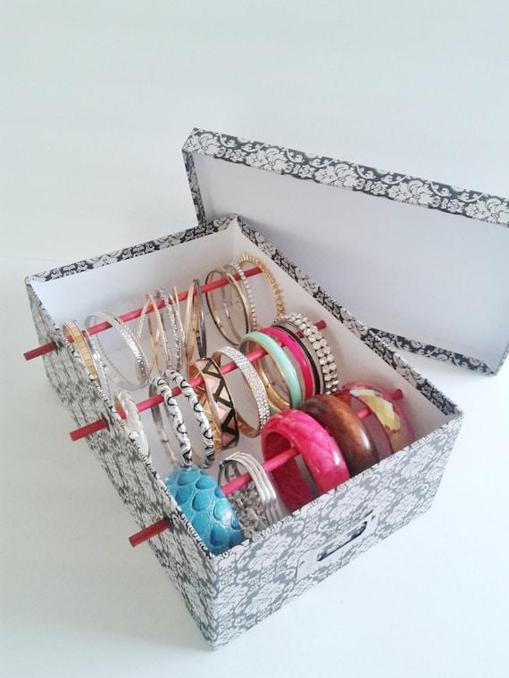 Items similar to bangle bracelet storage box for jewelry for Paparazzi jewelry gift basket