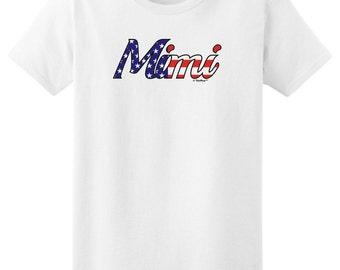 Mimi Stars and Stripes Patriotic Ladies T-Shirt 2000L - FB-291