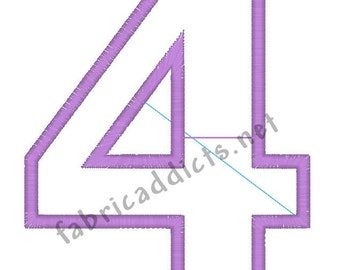 Applique #4 fits 5x7 Hoop for Embroidery Machine - Automatic Download Multiple Formats