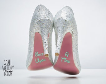 Once Upon a Time Shoe Decals / DIY Vinyl Stickers / DIY Vinyl Decals / DIY vinyl / wedding shoe stickers