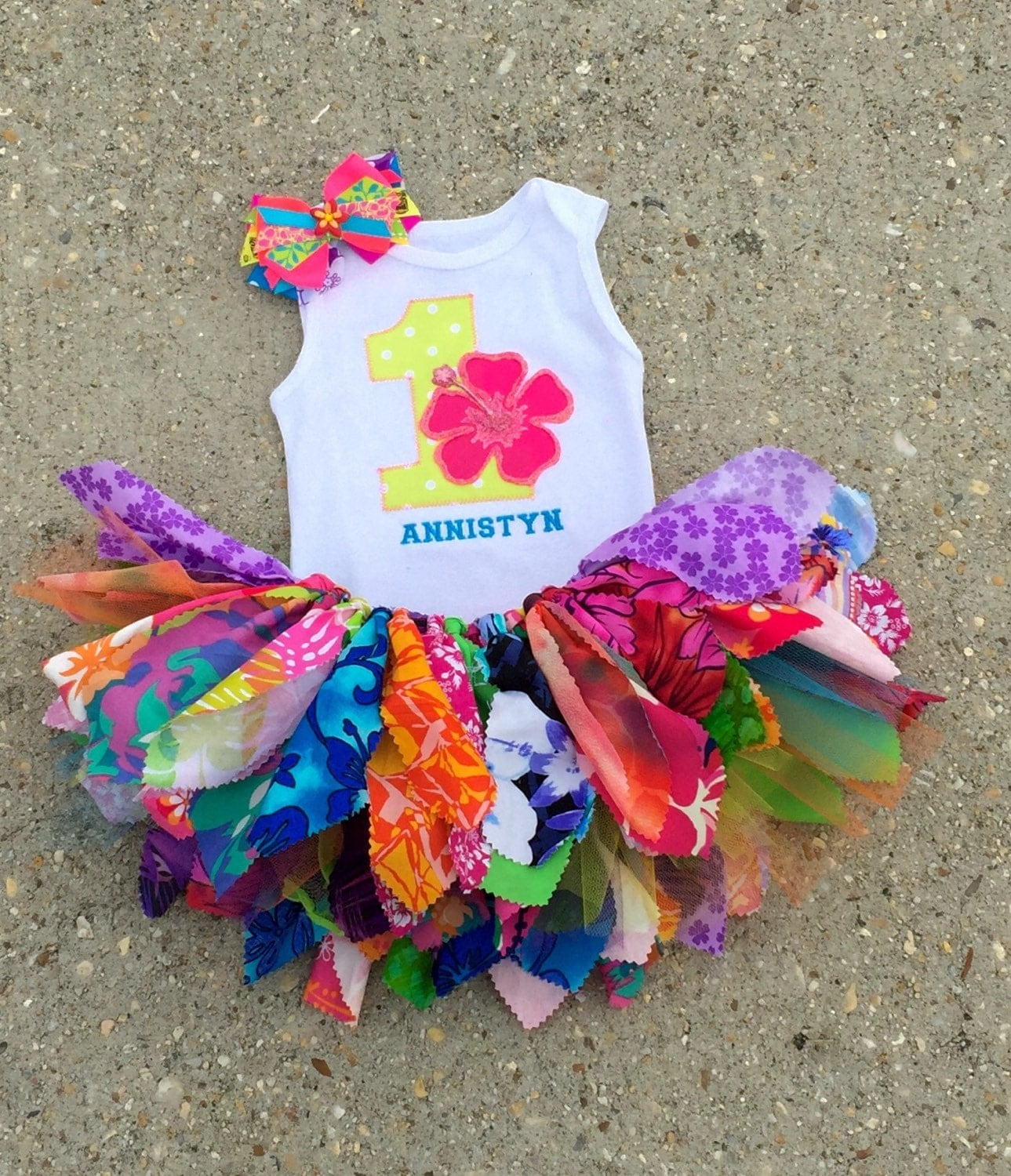 luau outfit hawaiian birthday outfit personalized shabby