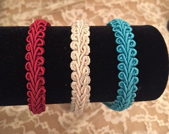 Turquoise, Red, or Ivory Headband