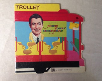 TROLLEY Mister Rogers' Neighborhood 1975 Golden Shape Book
