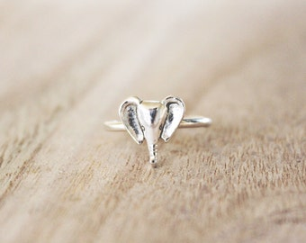 Elephant ring, elephant head, elephant head ring, elephants, sterling silver elephant ring, silver elephant ring, elephant jewelry