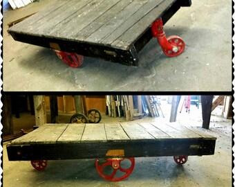 vintage reclaimed wood coffee table | etsy
