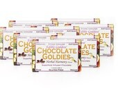 8 Bar Bulk Discount, Raw Vegan Superfood Herbal CHOCOLATE GOLDIES - Adaptogenic, Hormone Balancing, Aphrodisiac Sensual Chocolate Love Bars