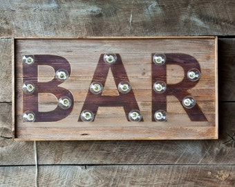 Wood Bar/Eat Marquee Light