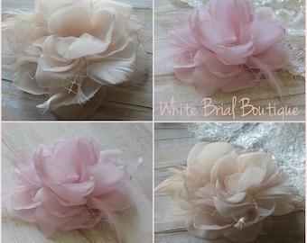 Champagne hair flower Pink hair flower Wedding hair flower Pink hair flower Pink wedding flower Champagne wedding Champagne wedding flower