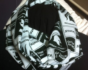 Michigan State University Spartans Cotton Infinity Scarf