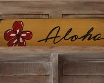 aloha beach wooden sign, wall decor, hawaii decor, hawaii sign, hawaii gift, aloha sign