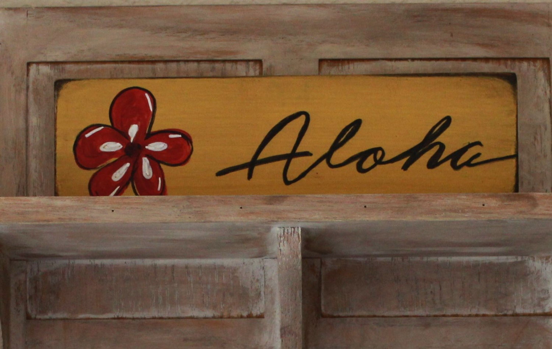 Wooden Beach Wall Decor : Aloha beach wooden sign wall decor hawaii by