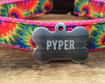 Stainless Steel Custom Pet ID Tag, Personalized Dog Tag, Identification name tag, Cat Tag, Lunch Box Tag, Bag Tag
