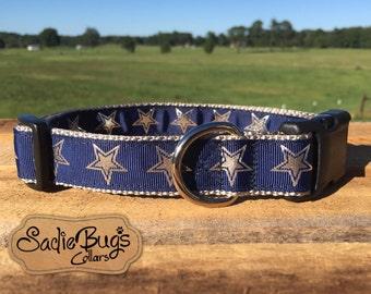 Dallas Cowboys dog collar - Go Cowboys, NFL