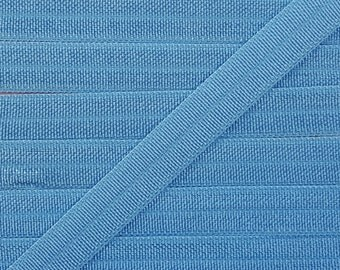 3/8 FRENCH BLUE Fold Over Elastic 5 or 10 Yards