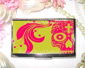 Business Card Holder, Skull Card Holder,  Business Card Case, Stainless Steel, Card Case,  Credit Card Case, Skull.