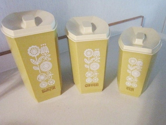 vintage kitchen utensil nesting canisters by shersvintagefinds kitchen utensils canister