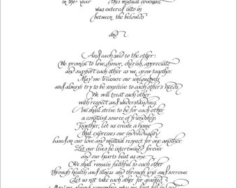 Ketubah text digital file  personalization/text fill-in included