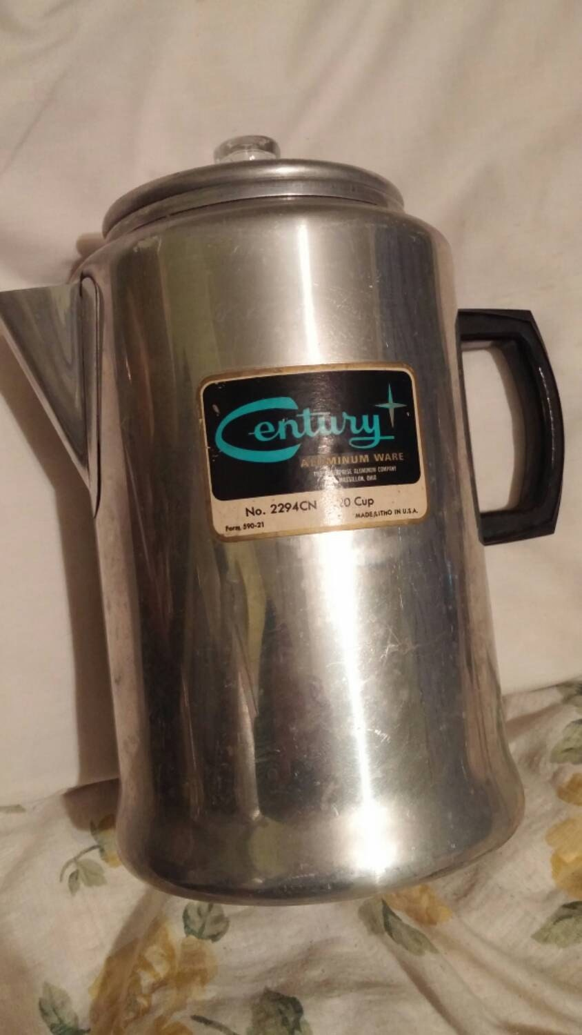 Coffee Maker 20 Cup : Century 20 Cup Coffee Maker. Campstove. Label intact. Made in